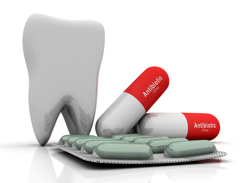 Graphic of tooth with antibiotics